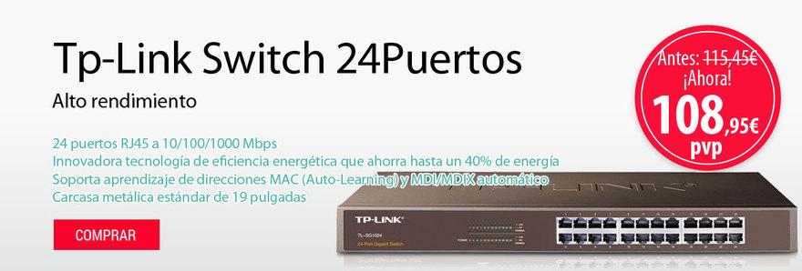 Con Tp-Link Switch 24Puertos alto rendimiento, bajo costo, fácil de usar, sin fisuras y estándar para mejorar su red.