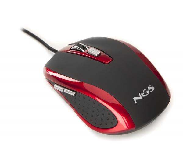 Ratón NGS Tick color rojo