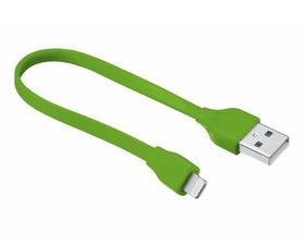 Urban Revolt Cable Plano USB Lightning 20cm Verde