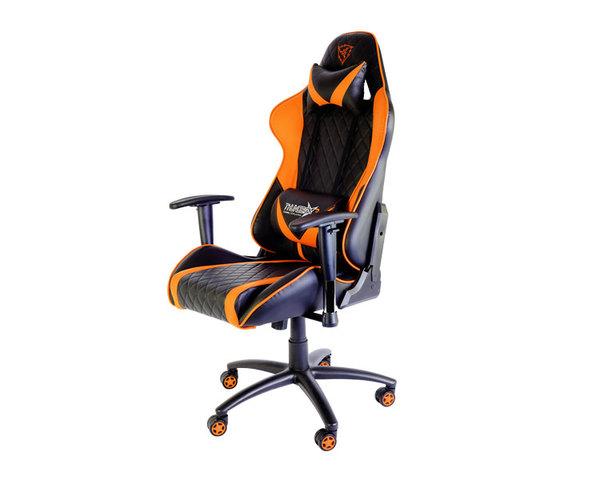 Silla gaming ThunderX3 TGC15 blanco/naranja