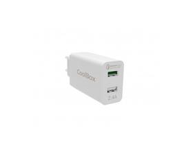 Coolbox Cargador USB Coche Ultrarapido Blanco