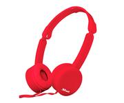 Trust Nano Auriculares Plegables Rojo
