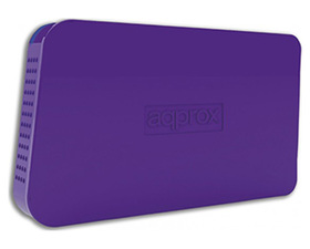 Approx Caja Externa 2.5'' USB 3.0 Morado