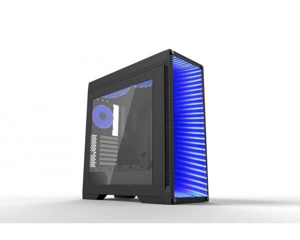 CoolBox Deep Endless Cristal Templado ATX USB 3.0 RGB Negra
