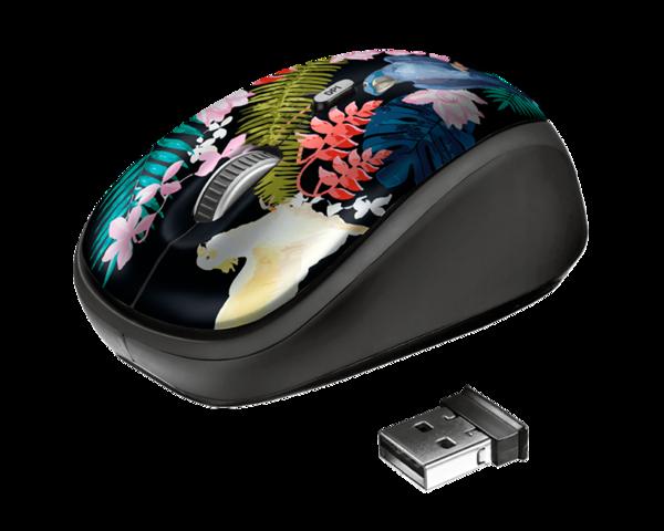 Trust Yvi Parrot Wireless Ratón Inalámbrico Optico 800-1600DPI