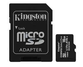 Kingston MicroSD 16GB Canvas Select Plus con Adaptador
