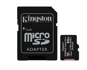 Kingston MicroSD 64GB Canvas Select Plus con Adaptador