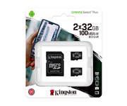 Kingston MicroSD 32GB Canvas Select Plus Pack de 2 unidades