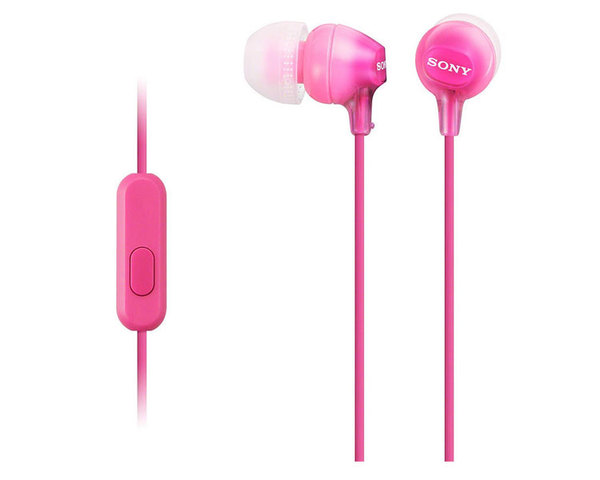 Sony MDR-EX15LP Auriculares con Micrófono Rosa