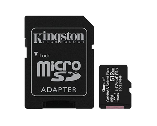 Kingston MicroSD 512GB Canvas Select Plus con Adaptador