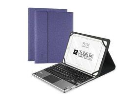 """Subblim Funda con Teclado Keytab Pro Bluetooth + Touchpad para Tablets 10.1"""" Morado"""