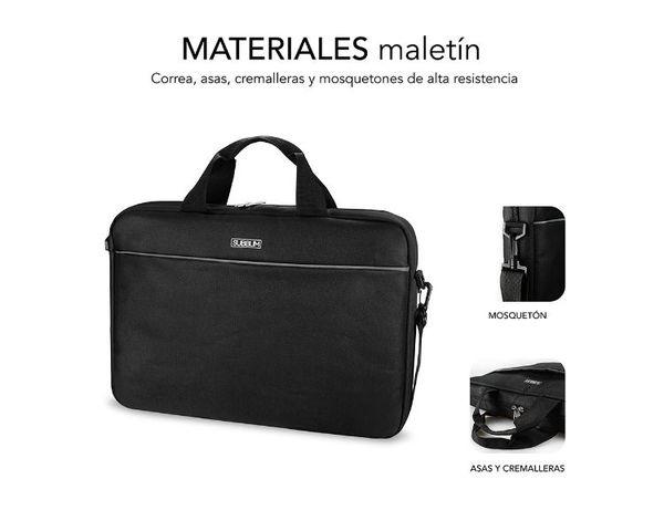 "Subblim Maletín con Ratón Wireless Select Pack para Portátil hasta 15.6"" Negro"
