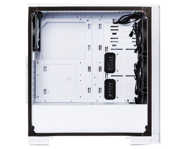 BitFenix Nova Mesh TG ATX 4ARGB Cristal Templado Blanco