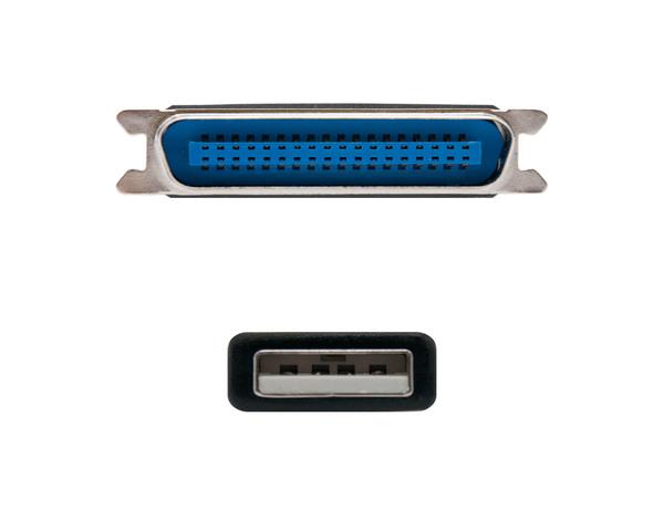 Nanocable Cable Conversor USB Tipo A a Impresora Paralelo CN36 (IEEE1284)  Macho