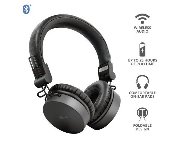 Trust Tones Auriculares Inalámbricos Bluetooth Negro