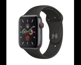 Apple Watch Series 5 Aluminio GPS + Cellular 44mm Gris Espacial con Correa Deportiva Negra