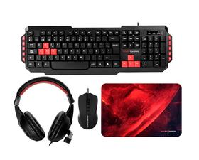 Mars Gaming MRCP1 Kit Combo Gaming Teclado + Ratón + Auriculares + Alfombrilla