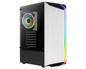 Aerocool Bionic V2 RGB Cristal Templado USB 3.0 Blanca