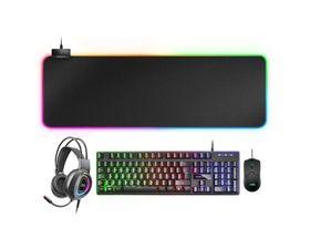 Mars Gaming MCPEX Combo Gaming 4 en 1 Teclado + Ratón + Alfombrilla + Auriculares RGB